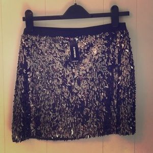 EXPRESS MINI SKIRT in sequins